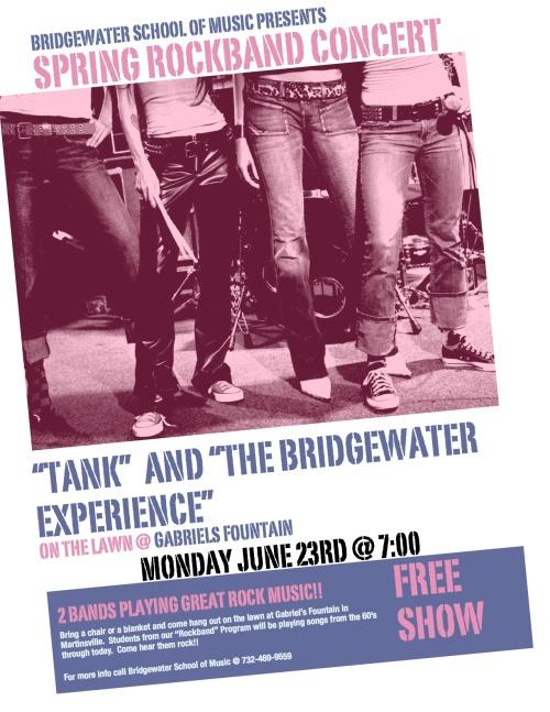 Spring Rockband Concert - Monday 6/23 @ 7:00